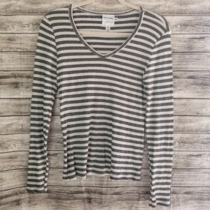 🌼Anthropologie Michael Stars Shine Stripe Top